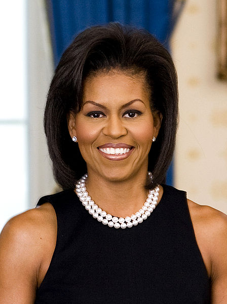 First Lady Michelle Obama, the First Black First Lady of the United States
