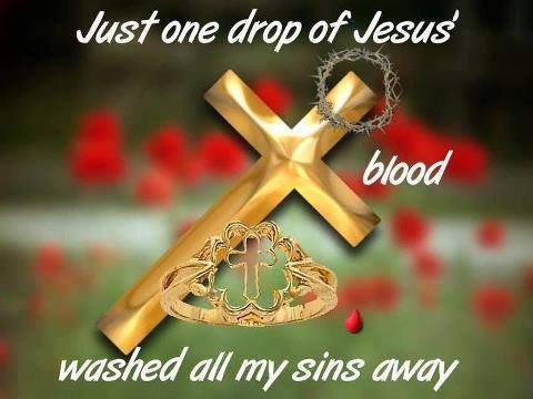 JUST ONE DROP....AMEN