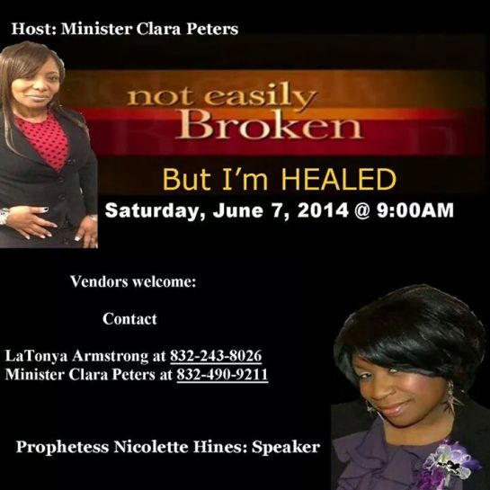 """Not Easily Broken, but I'm Healed"" Women of Divine Distinction Prayer Breakfast"